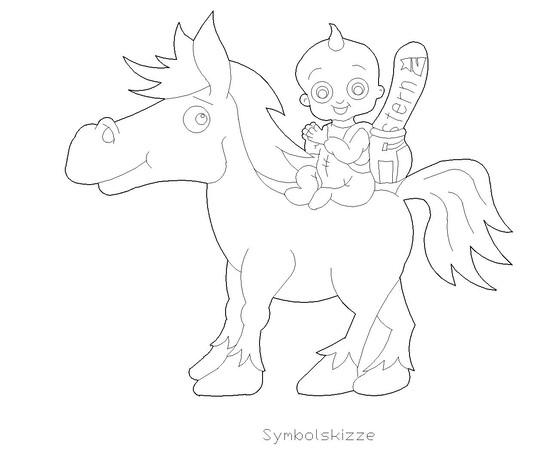 """Figur """"Pferd mit Baby"""""""